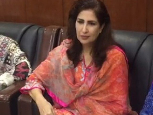 PPP leader Shehla Raza. SCREENGRAB