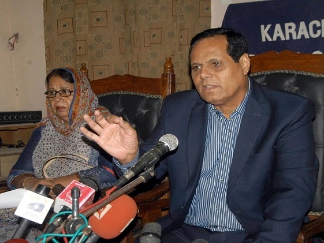 All Private Schools Management Association, Sindh, chairperson Syed Khalid Shah. PHOTO: EXPRESS