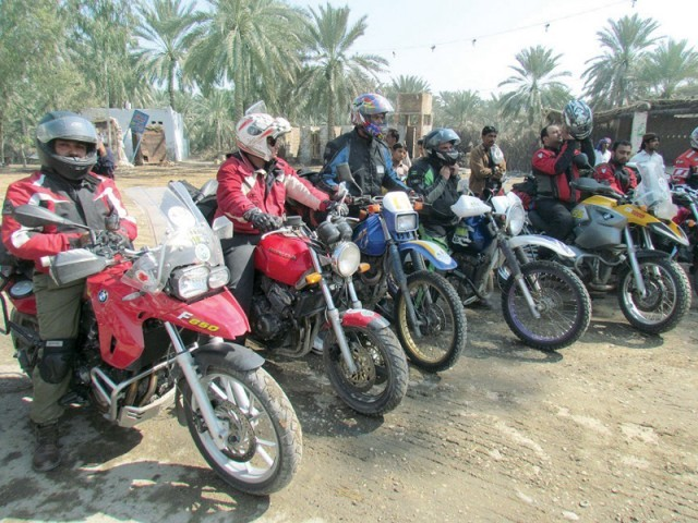 A file photo of bikers on their motorbikes. PHOTO: EXPRESS