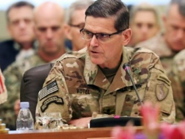 The head of US Central Command, General Joseph Votel, urges feuding Gulf Arab states to put aside their differences and unite against what he says are Iranian efforts to destabilise the region. PHOTO: AFP