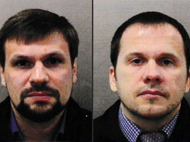 British authorities issued European arrest warrants for the two suspects identified as Ruslan Boshirov (L) and Alexander Petrov (R) PHOTO: AFP