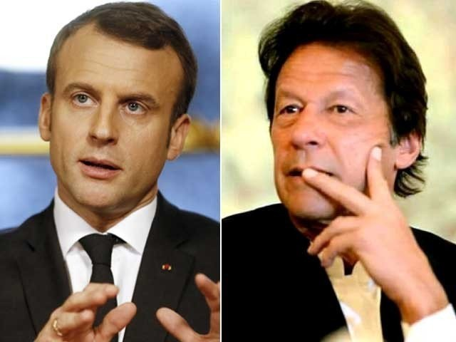 French President Emmanuel Macron late Thursday night had a telephonic conversation with Prime Minister Imran Khan. PHOTO: EXPRESS