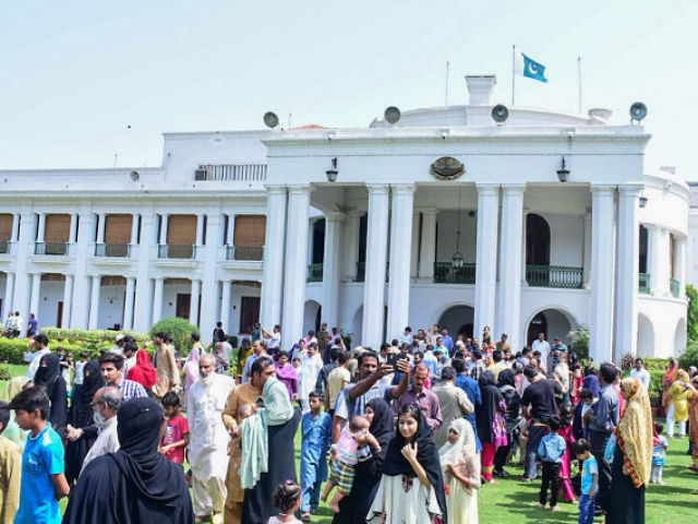 The PTI government has already opened gates of the Murree Government House and Sindh Governor House for the public.   PHOTO: TWITTER @ChMSarwar