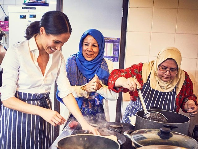 Duchess of Sussex helps launch cookbook