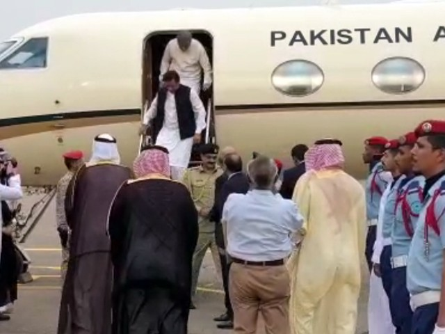After visiting Saudi Arabia PM Khan arrives in UAE