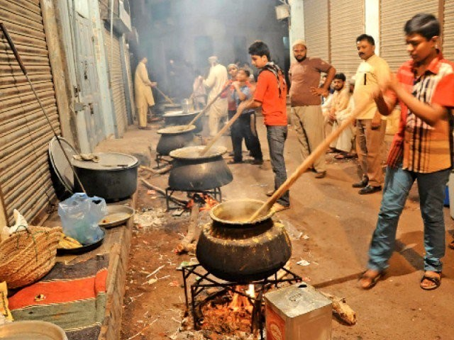 The daily rent of a cauldron (daig) jumps from Rs300 to Rs400 to between Rs1,000 and Rs1,200. PHOTO: EXPRESS/FILE
