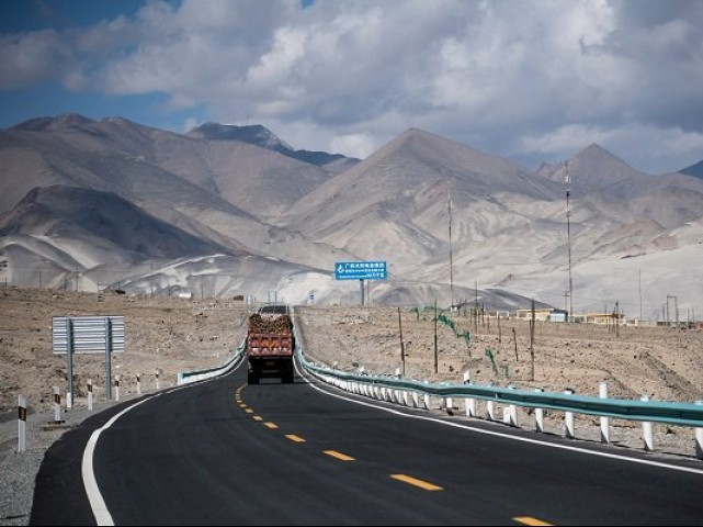 CPEC route. PHOTO: AFP