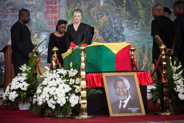 Nane Maria, the widow of Kofi Annan, Ghanaian diplomat and former Secretary General of United Nations who died on August 18 at the age of 80 after a short illness. PHOTO:AFP