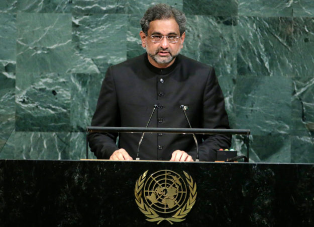 PM Abbasi addresses 72nd session of the UNGA