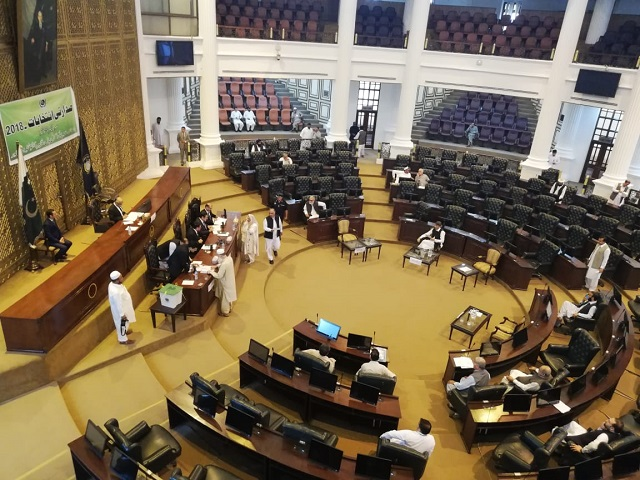 Voting in K-P Assembly. -Sohail Khattak