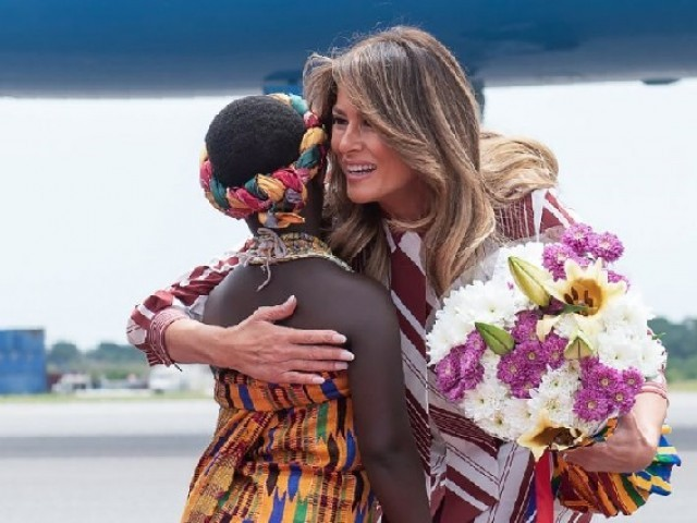 US First Lady Melania Trump touches down in Africa