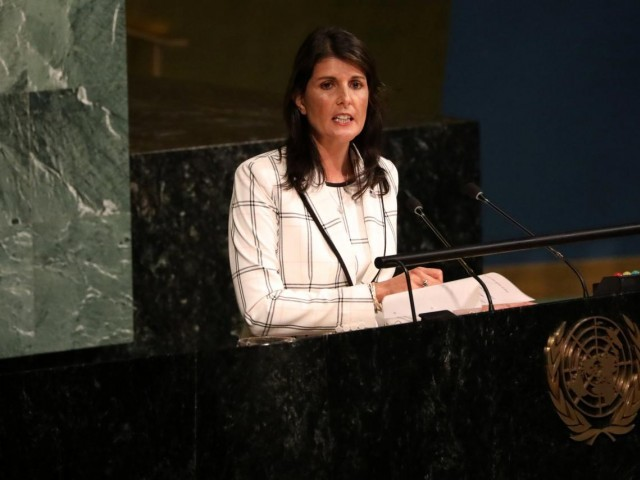 UN Ambassador Haley resigning; she gives no reason