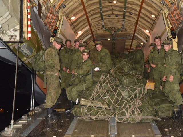 Russian soldiers arrive in Pakistan. PHOTO: ISPR