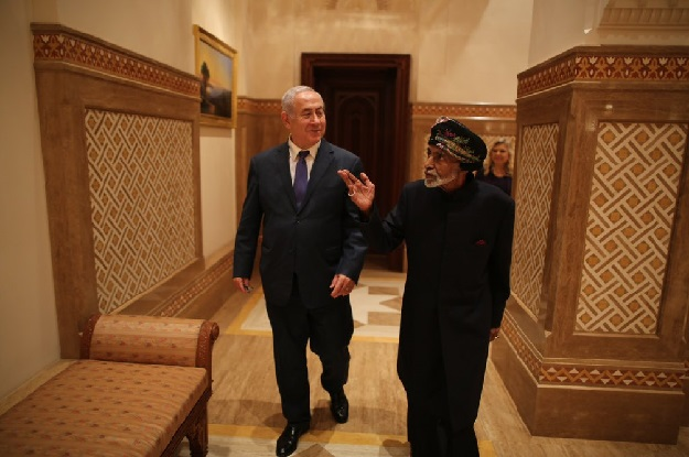His Majesty the Sultan receives Israeli PM Benjamin Netanyahu in Oman
