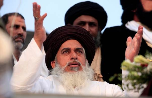 Khadim Hussain Rizvi. PHOTO: REUTERS
