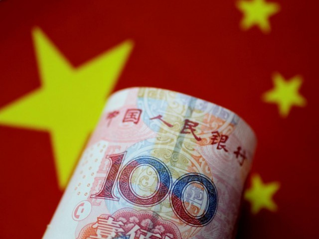 A China yuan note is seen in this illustration Reuters photo.
