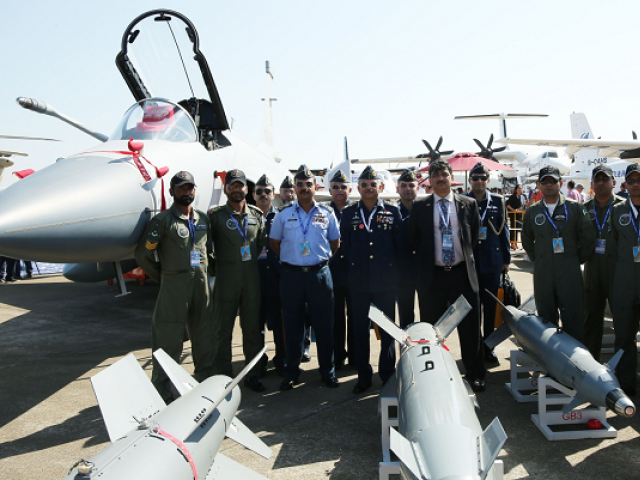 "The air chief witnessed the aerial display of ""Pride of Pakistan"" JF-17 Thunder aircraft. PHOTO: EXPRESS"