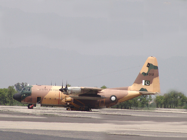 A Pakistan Air Force C-130 aircraft. Photo: PAF/File