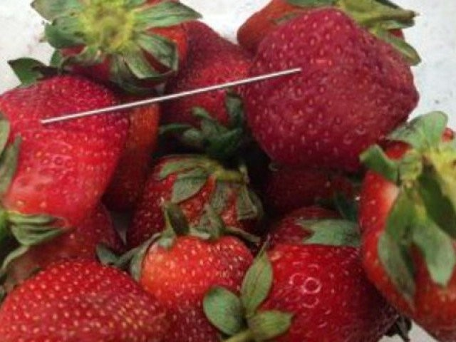 Strawberry needle scare: Woman allegedly spiked punnets for revenge