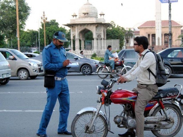 'The city traffic police had decided to strictly implement rules for motorbike riders to ensure their safe.'  PHOTO: INP/ FILE