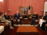 Afghanistan's President Ashraf Ghani (R) and US special envoy for peace in Afghanistan, Zalmay Khalilzad, (L) meet in Kabul, Afghanistan. PHOTO REUTERS