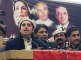 PPP chairman Bilawal Bhutto Zardari addresses a public gathering in Galgit-Baltistan on Sunday. PHOTO: EXPRESS