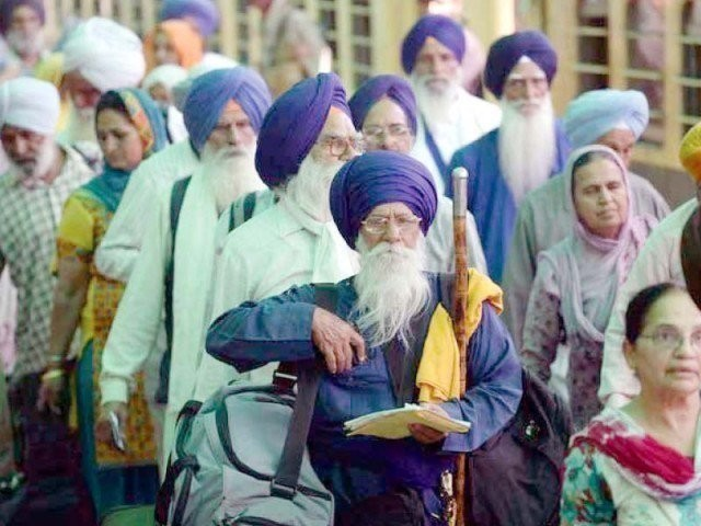 A file photo of Sikh pilgrims during their visit to Pakistan.