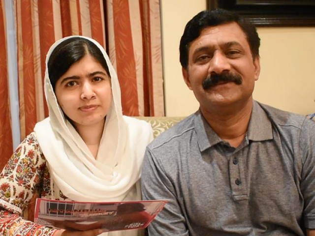 Nobel laureate Malala Yousafzai with her father Ziauddin Yousafzai in Mexico City. PHOTO COURTESY: MALALA FUND