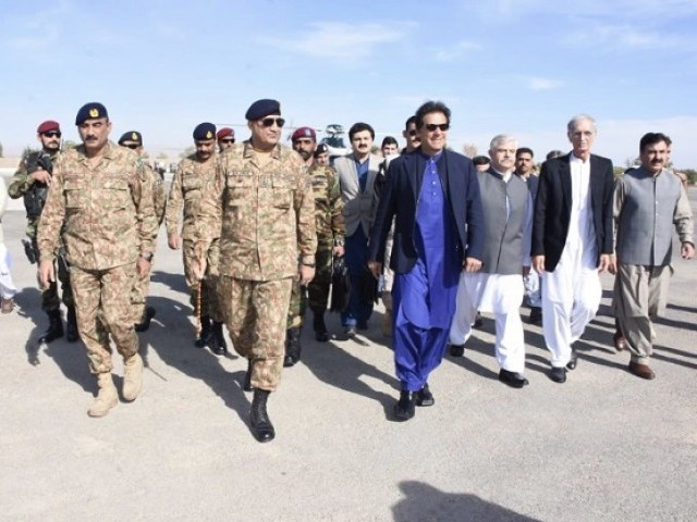 Image result for pics of Imran Khan and General Bajwa