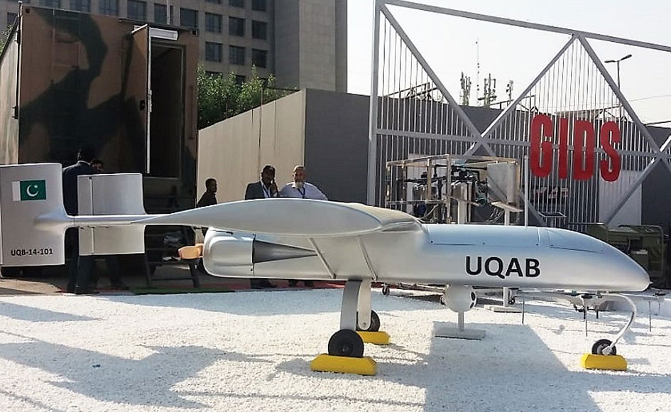 Pakistan manufactured Uqab drone. -Photo by author