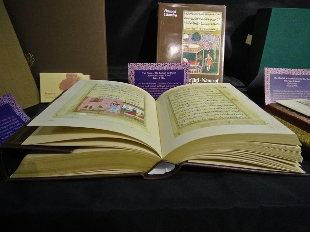 A facsimile edition of the book of parrots at display during Sharjah Book Fair. PHOTO: EXPRESS