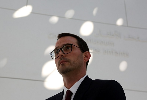 Manuel Rabate, Director of Louvre Abu Dhabi, looks on during an interview with Reuters in Abu Dhabi, United Arab Emirates. PHOTO: REUTERS/SATISH KUMAR