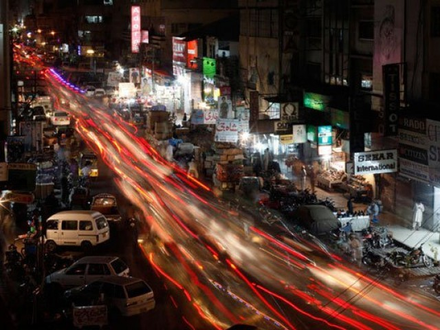 Karachi at night. PHOTO: REUTERS