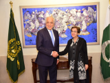 US Special Representative Zalmay Khalilzad held a meeting with Foreign Secretary Tehmina Janjua in Islamabad on Tuesday.  PHOTO: TWITTER/@ForeignOfficePk