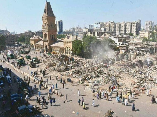 Park and monuments will be built in areas adjoining the Empress Market.  PHOTO: EXPRESS