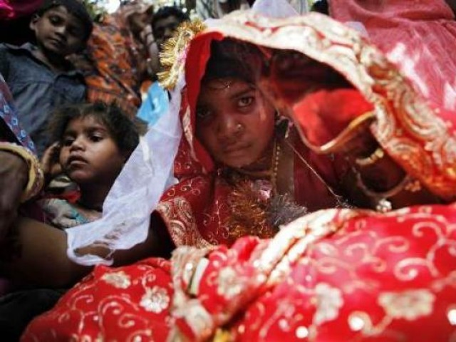 Representational image of a child bride. PHOTO: REUTERS