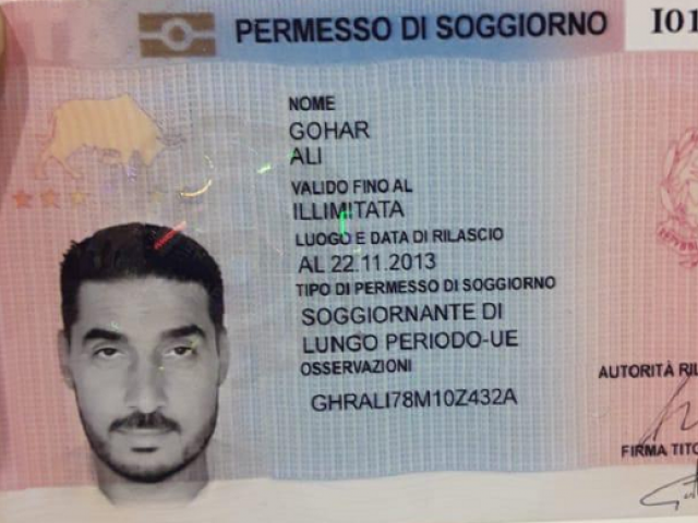 Pakistani national identified as Gohar Ali, was trying to leave the country with a fake travel permit for Italy. PHOTO: EXPRESS
