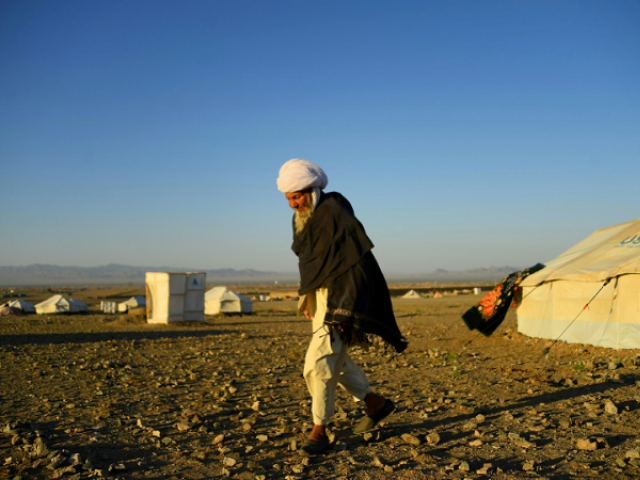 Afghans hit by the severe drought have taken refuge in a squalid camp on the rocky outskirts of Herat. PHOTO: AFP