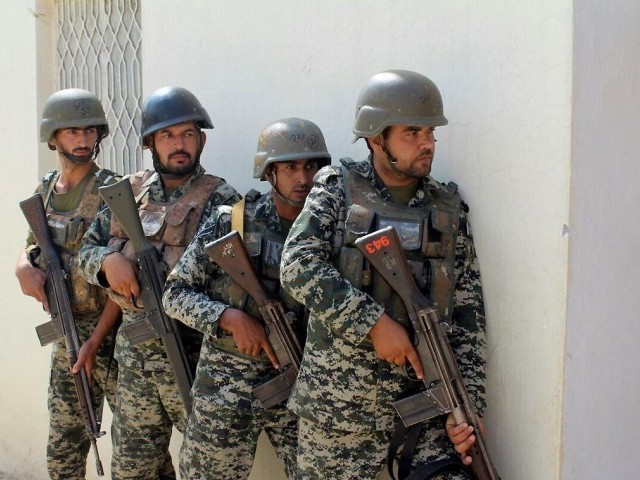 A file photo of Balochistan security personnel. PHOTO: INP