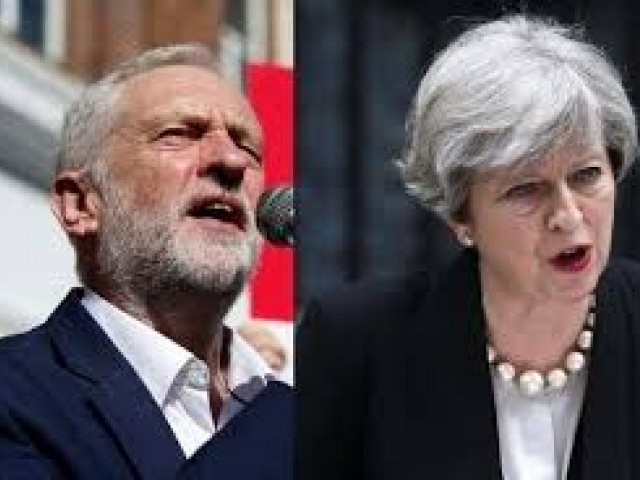 Corbyn accused by UK Conservatives of calling May a 'stupid woman'