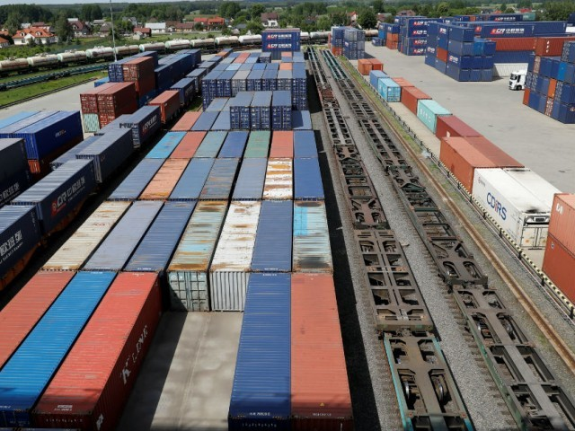The new train service will cut freight charges by 15-20% per container and reduce transportation time to around two days between Karachi and Lahore. PHOTO: REUTERS