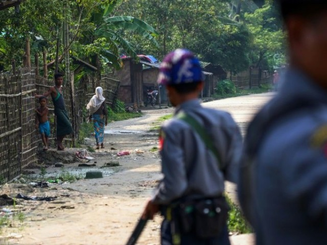 The Myanmar army led a crackdown against the Rohingya in Rakhine in 2017, saying they needed to flush out militants from the stateless minority. PHOTO: AFP