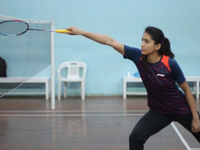 IT RUNS IN THE FAMILY: Mahoor belongs to a family of sportsmen and women and credits her father for igniting the passion for badminton. PHOTO COURTESY: NABIL TAHIR