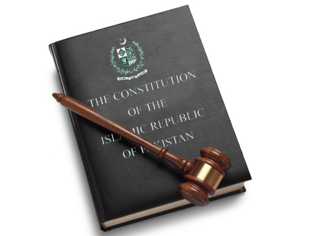 The Constitution of the Islamic Republic of Pakistan. PHOTO: FILE