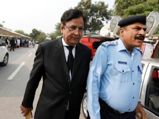 Saiful Mulook (L) the lawyer of Christian woman sentenced to death for blasphemy against Islam, leaves after the Court overturned the conviction, in Islamabad, Pakistan October 31, 2018. REUTERS