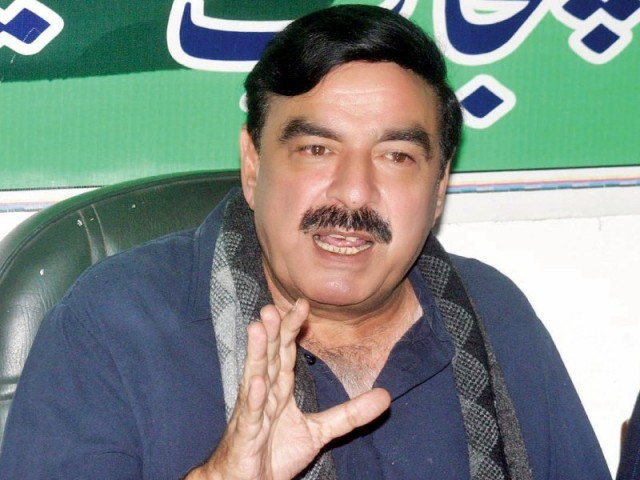 A file photo of Awami Muslim League chief Sheikh Rasheed Ahmed.