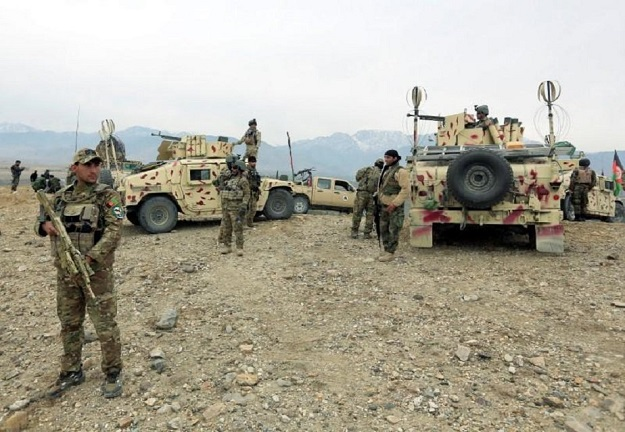 Afghan National Army prepare for an operation against insurgents in Khogyani district of Nangarhar province