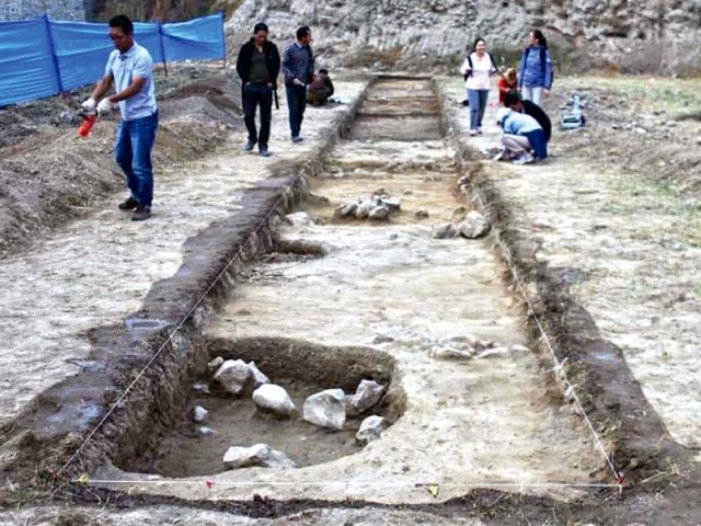 Archaeologists have uncovered some artefacts dating as far back as 1700 BC near Khanpur. PHOTO: EXPRESS