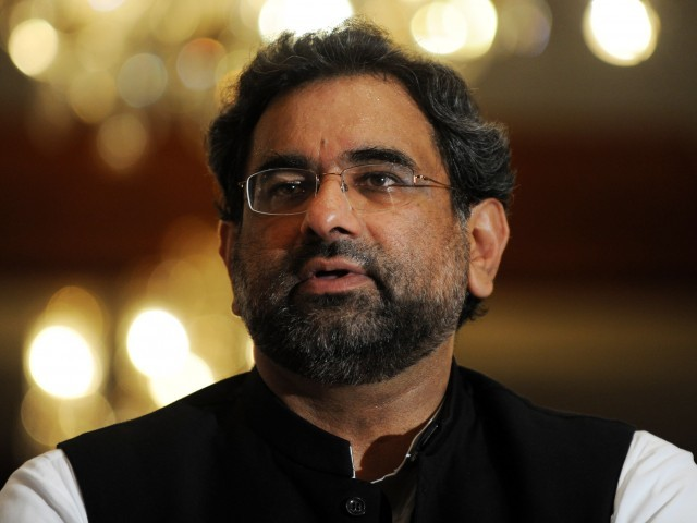 PML-N leader Shahid Khaqan Abbasi opposes extension of military courts. PHOTO: FILE