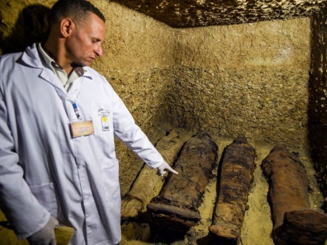 Egypt discovers 40 mummies in ancient chambers in Minya